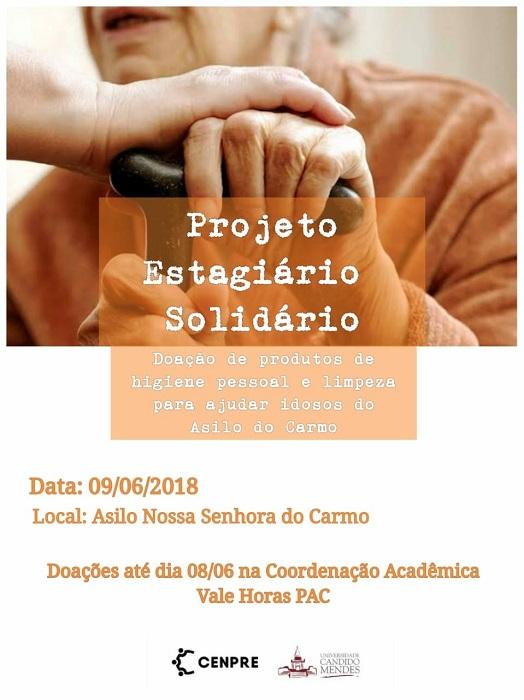 Campanha promovida por estagiários internos arrecada doações para o Asilo do Carmo