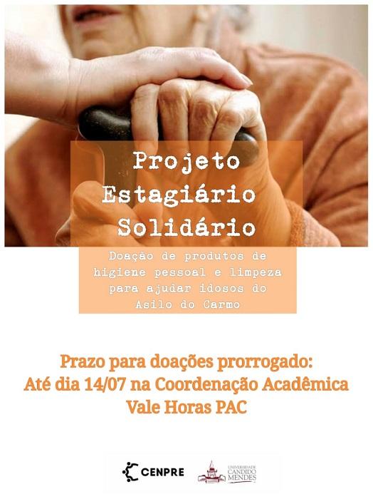 Prorrogado prazo para entrega de doações do Projeto Estagiário Solidário